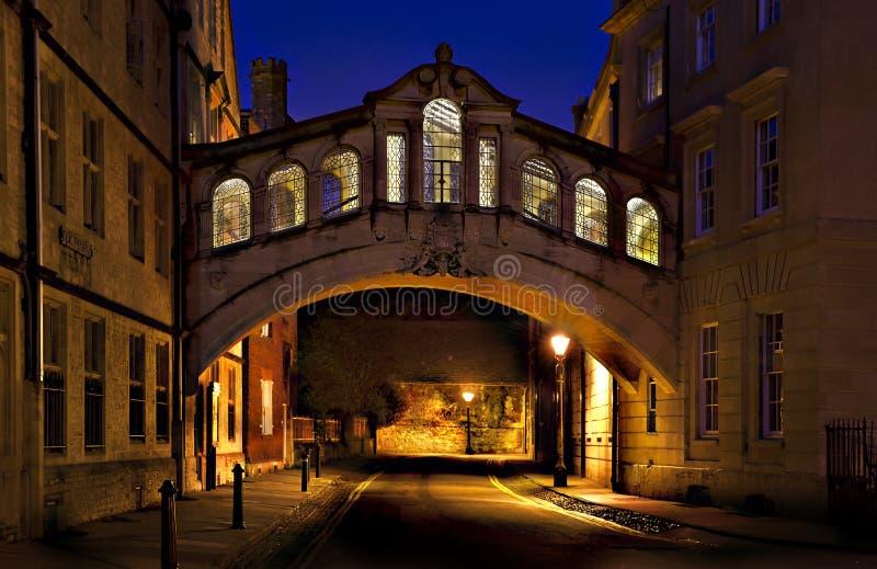 Ponticello dei sospiri Oxford immagine stock libera da diritti