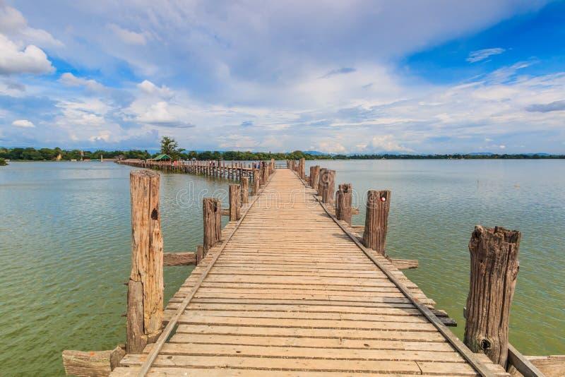 Ponticello del bein di U in myanmar immagini stock libere da diritti