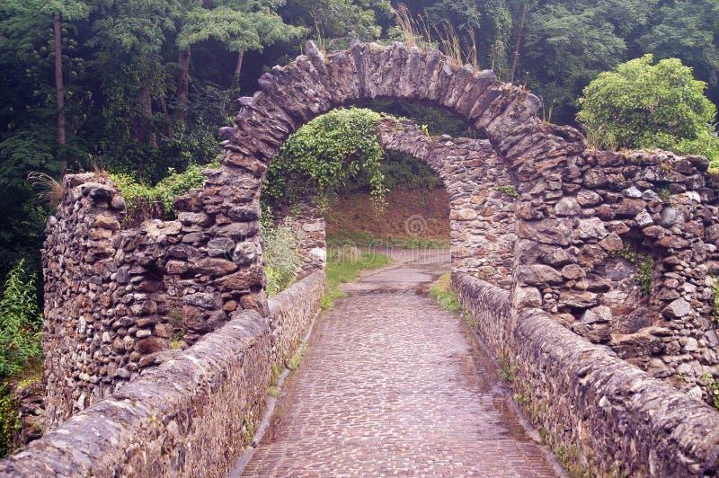 Ponticello del diavolo (Pont du diable) Francia fotografia stock libera da diritti