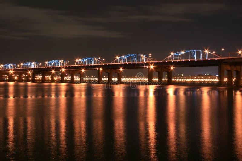 Ponticello del fiume del Han fotografia stock libera da diritti