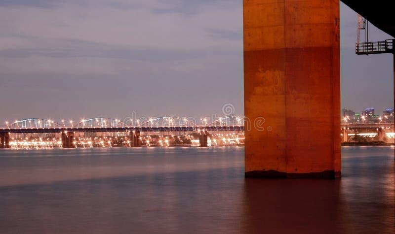 Ponticello del fiume del Han fotografie stock