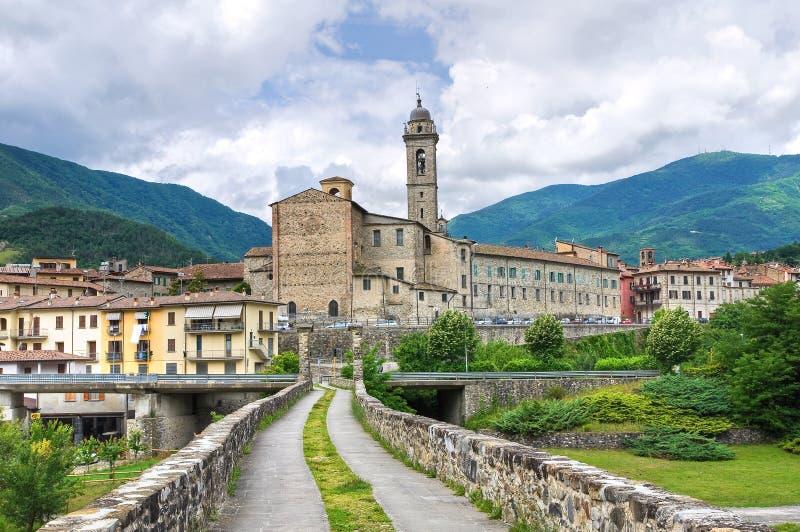 Ponticello del Hunchback. Bobbio. L'Emilia Romagna. L'Italia. immagine stock libera da diritti