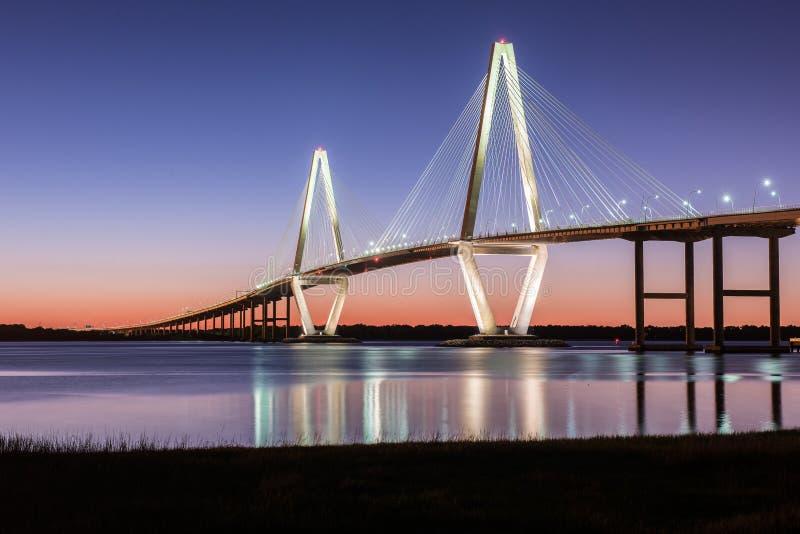 Ponticello del Jr Sc di Charleston del ponte immagine stock