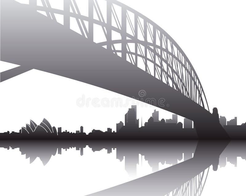 Ponticello del porto, Sydney illustrazione vettoriale