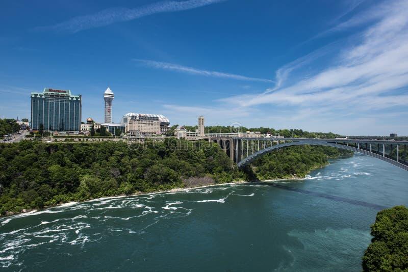 Ponticello del Rainbow di Niagara Falls fotografia stock libera da diritti