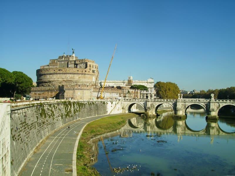 Ponticello del San Angelo a Roma fotografie stock libere da diritti