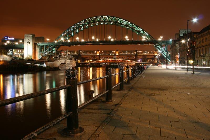 Ponticello del Tyne - di Newcastle immagini stock