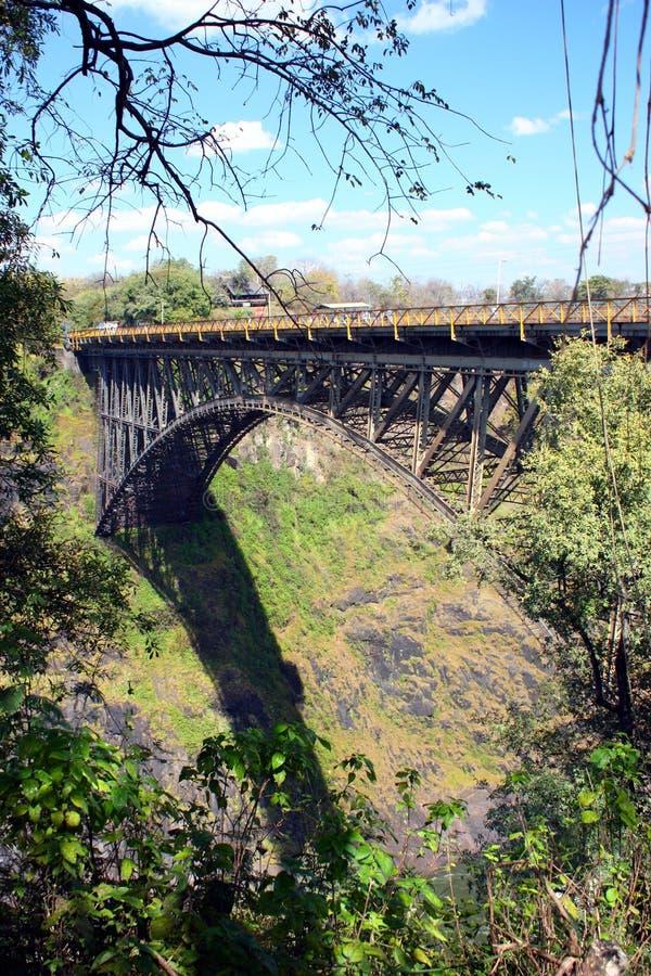 Ponticello del Victoria Falls fotografie stock