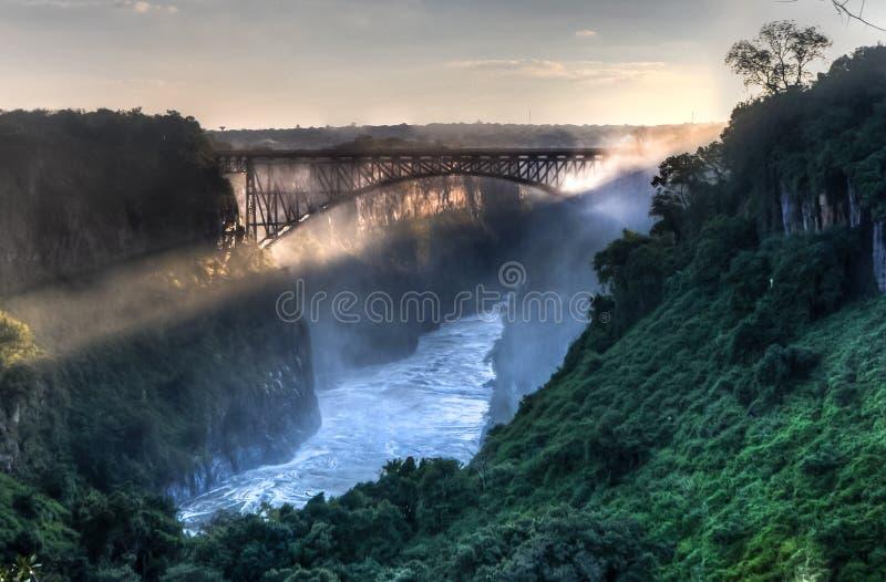 Ponticello del Victoria Falls immagini stock libere da diritti