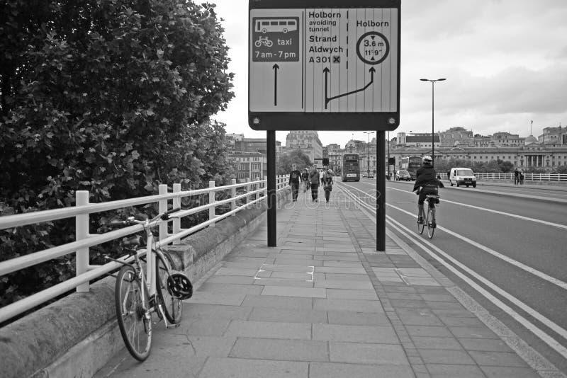 Ponticello del Waterloo, Londra fotografia stock libera da diritti