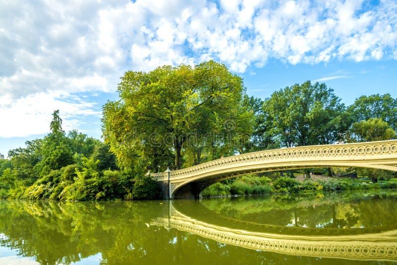 Ponticello dell'arco in Central Park fotografie stock