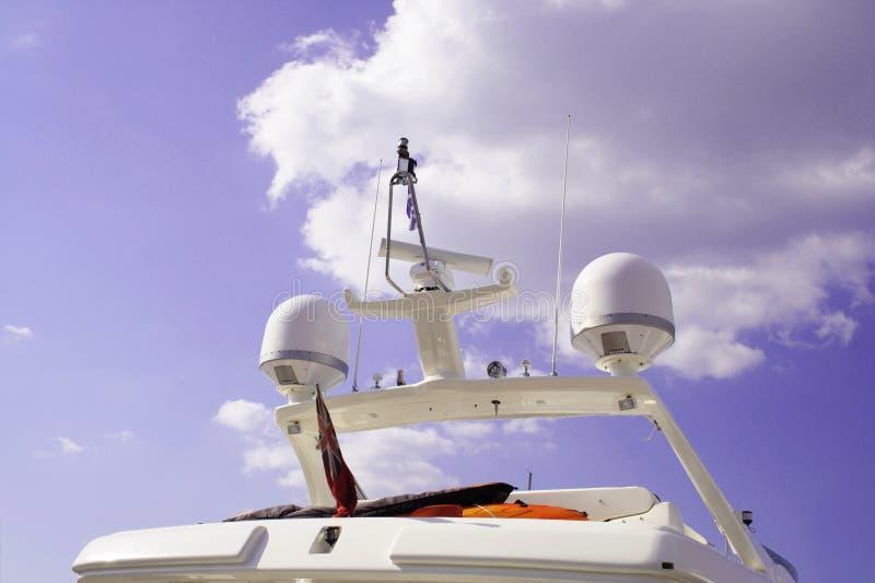 Ponticello dell'yacht fotografia stock libera da diritti