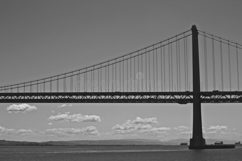 Ponticello della baia del San Francisco-Oakland alla notte immagine stock libera da diritti