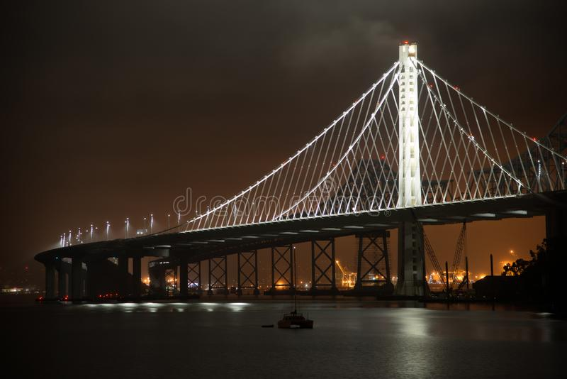 Ponticello della baia a San Francisco immagine stock