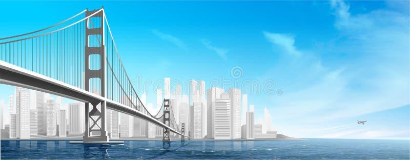 Ponticello della città illustrazione vettoriale