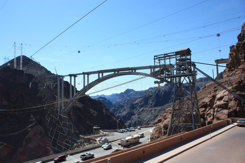 Ponticello della diga di Hoover fotografie stock