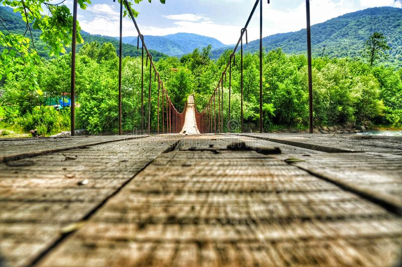Download Ponticello Della Sospensione Bridge Fotografia Stock - Immagine di appendere: 56883558