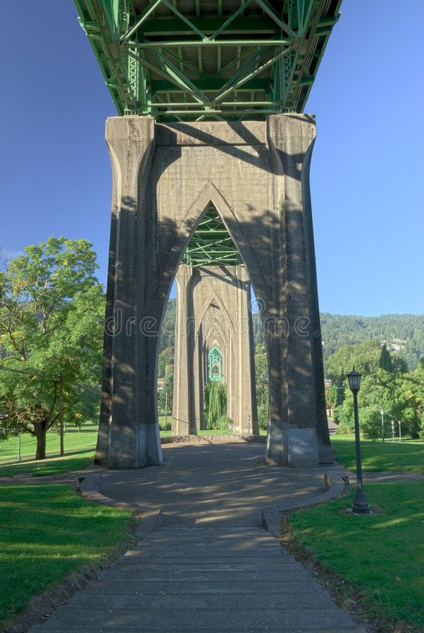Ponticello della st John, Portland, Oregon fotografie stock libere da diritti