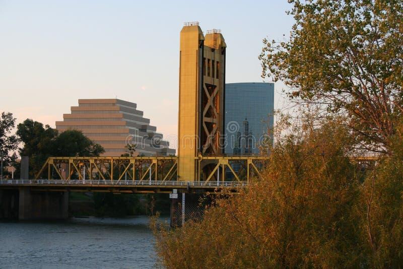 Ponticello della torretta di Sacramento California fotografia stock libera da diritti