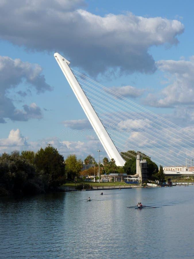 Ponticello di Alamillo in Siviglia, Spagna immagini stock libere da diritti