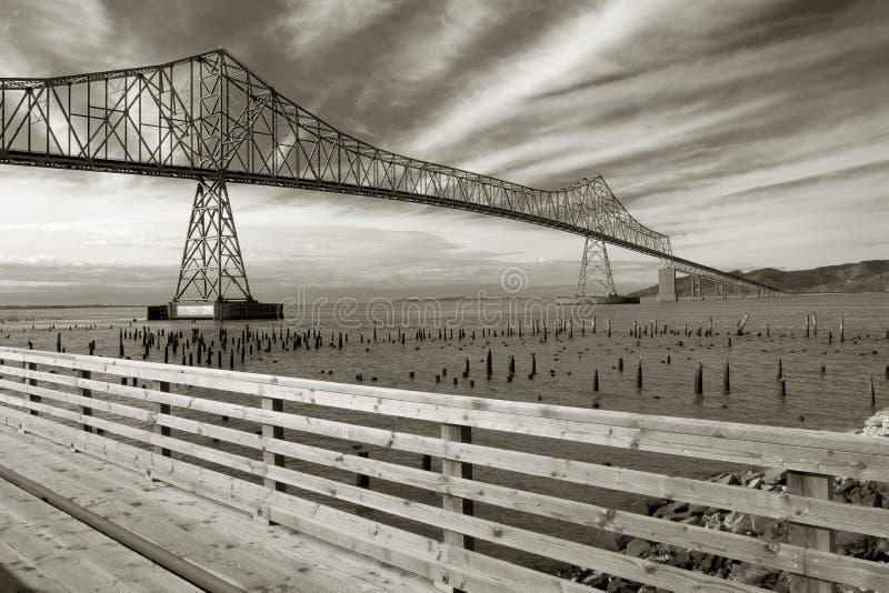 Ponticello di Astoria-Megler fotografie stock