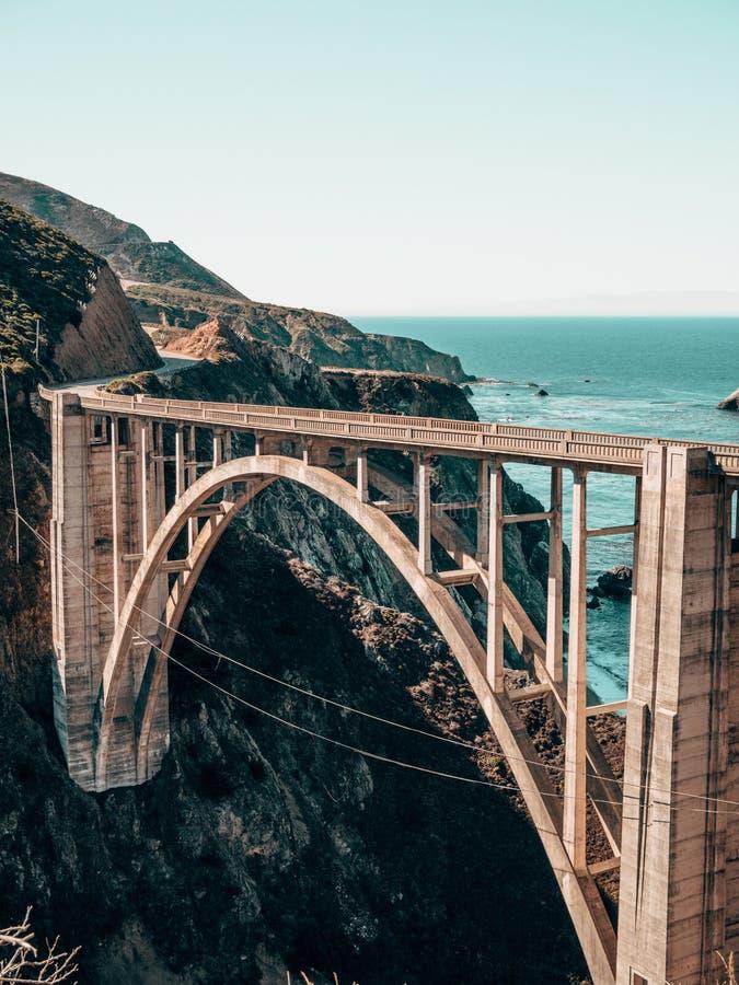 Ponticello di Bixby - grande Sur - California fotografie stock
