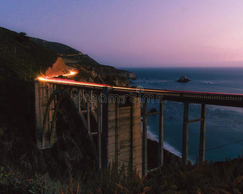 Ponticello di Bixby - grande Sur - California immagine stock