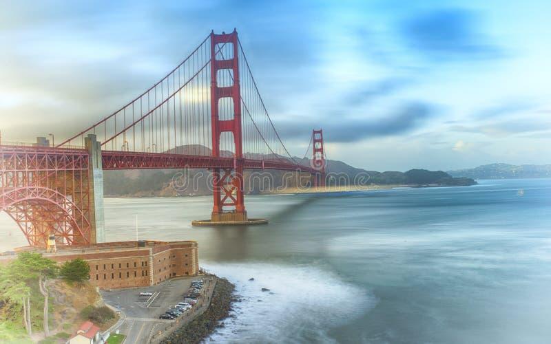 Ponticello di cancello dorato San Francisco immagine stock