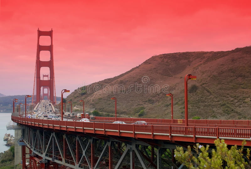 Ponticello di cancello dorato, San Francisco, Ca, noi fotografia stock libera da diritti