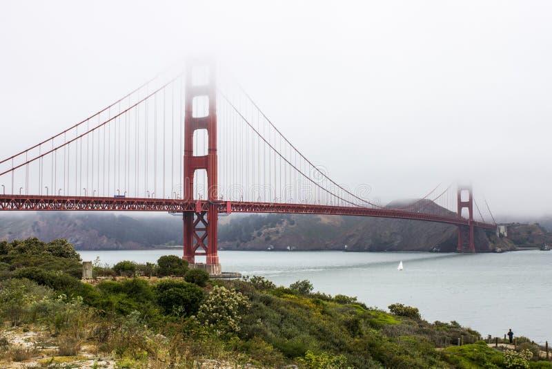 Ponticello di cancello dorato, San Francisco, California immagini stock libere da diritti