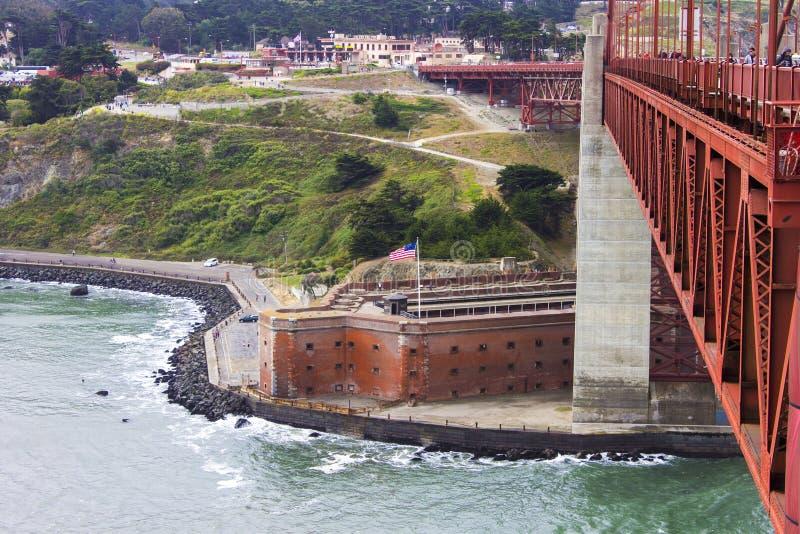 Ponticello di cancello dorato, San Francisco, California fotografie stock