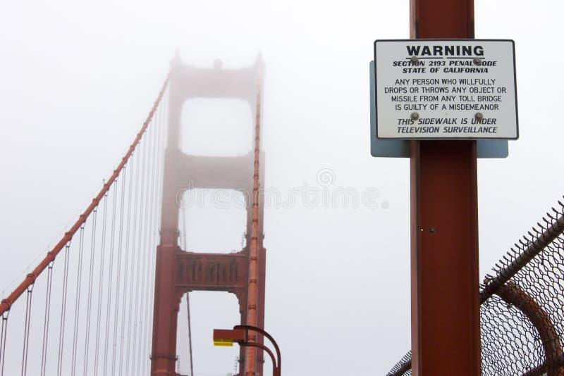 Ponticello di cancello dorato, San Francisco, California fotografia stock libera da diritti
