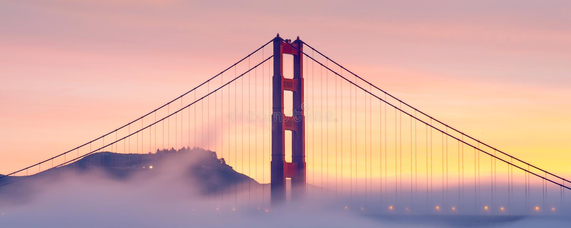 Ponticello di cancello dorato, San Francisco, S immagini stock