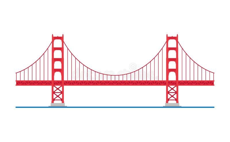 Ponticello di cancello dorato, San Francisco, S Illustrazione di vettore royalty illustrazione gratis