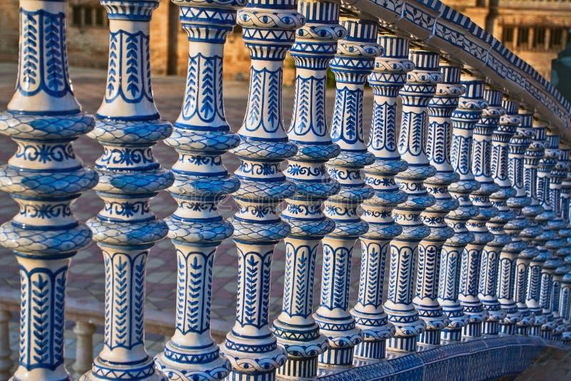 Ponticello di ceramica all'interno di Plaza de Espana fotografia stock libera da diritti