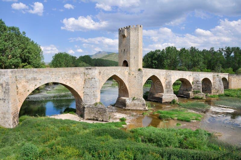 Ponticello di Frias, Burgos (Spagna) fotografie stock