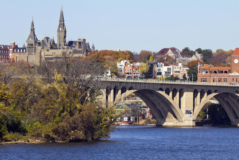 Ponticello di Georgetown fotografia stock libera da diritti