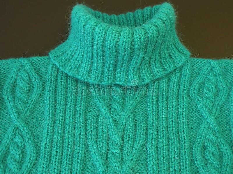 Ponticello di lavoro a maglia verde immagini stock