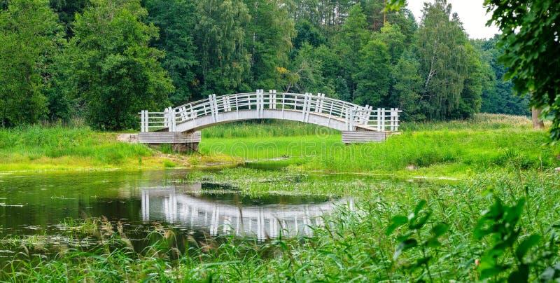Ponticello di legno Alatskivi, Estonia immagine stock libera da diritti
