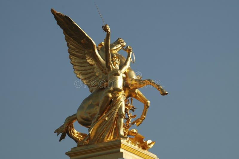 Ponticello di Lexander III, Parigi, Francia immagine stock