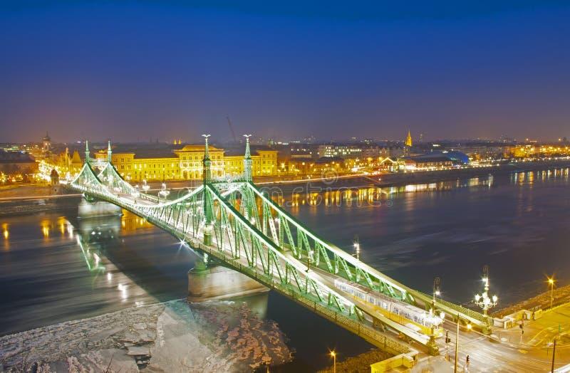 Ponticello di libertà a Budapest immagine stock libera da diritti