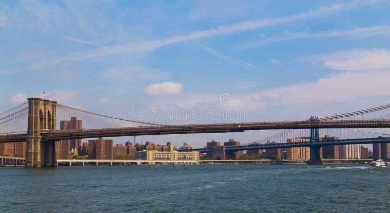 Ponticello di Manhattan e di Brooklyn fotografie stock libere da diritti