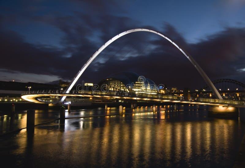 Ponticello di millennio di Gateshead immagine stock libera da diritti