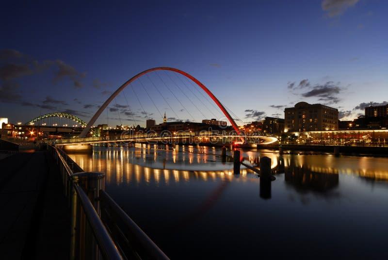Ponticello di millennio di Gateshead immagini stock libere da diritti