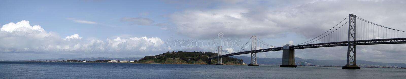 Ponticello di San Francisco Bay panoramico fotografia stock libera da diritti