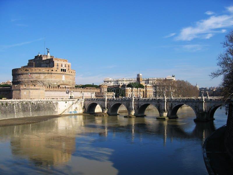 Ponticello di tiber dei fortess di Roma fotografie stock