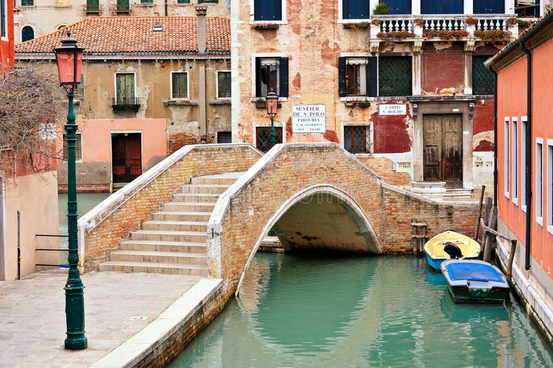 Ponticello di Venezia immagine stock libera da diritti