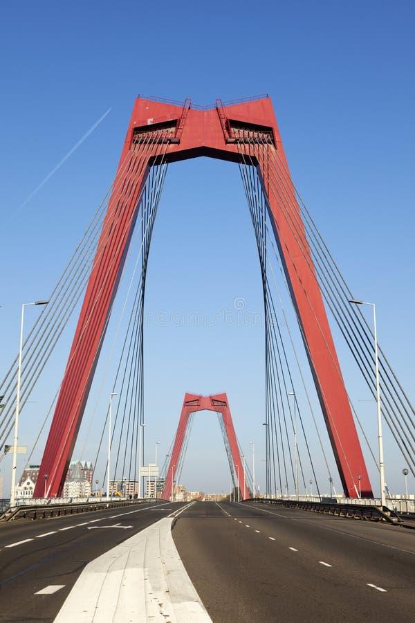 Ponticello di Willemsbrug a Rotterdam immagini stock libere da diritti
