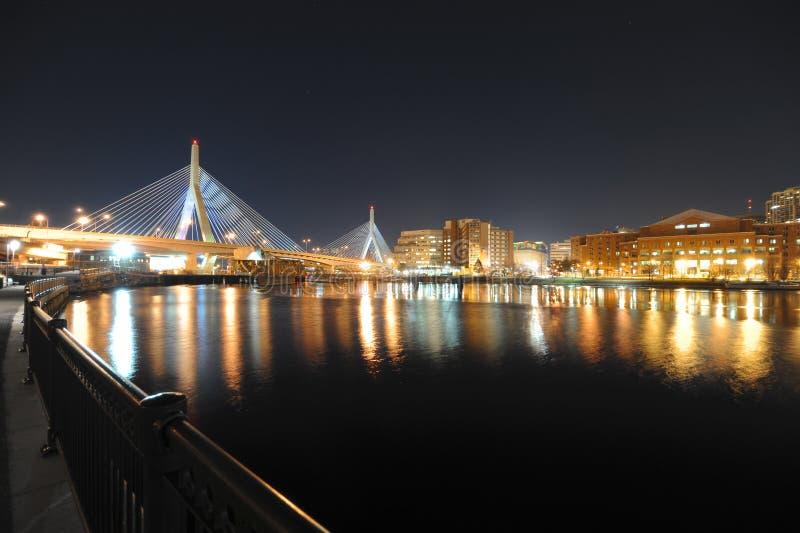 Ponticello di Zakim a Boston Massachusetts fotografia stock libera da diritti