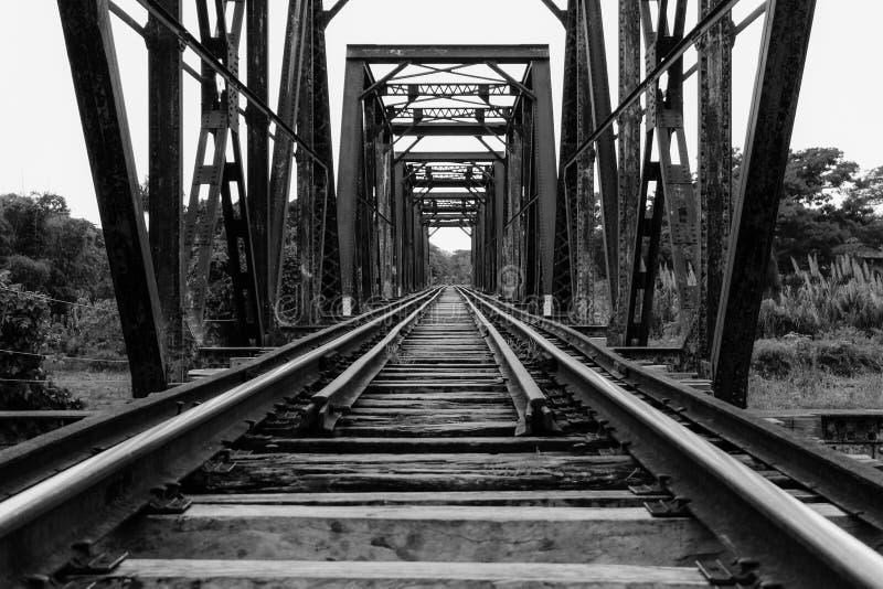 Ponticello ferroviario verde fotografie stock libere da diritti